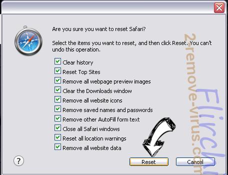Search.packagetrackingprotab.com Safari reset