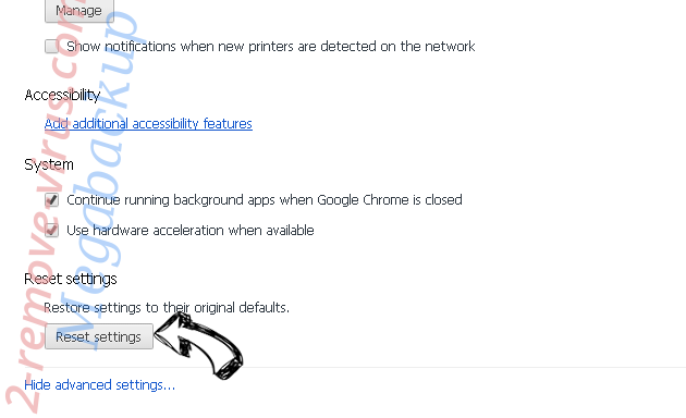 Brilliant Check Redirect Virus Chrome advanced menu