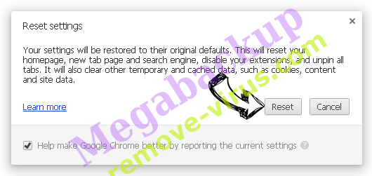 Searchlee Virus Chrome reset