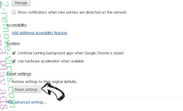 Pushlat.com Chrome advanced menu