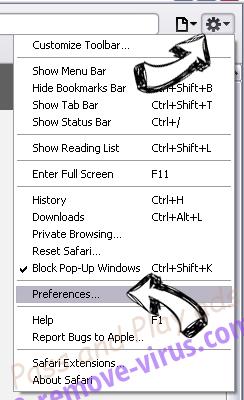 Pushlat.com Safari menu
