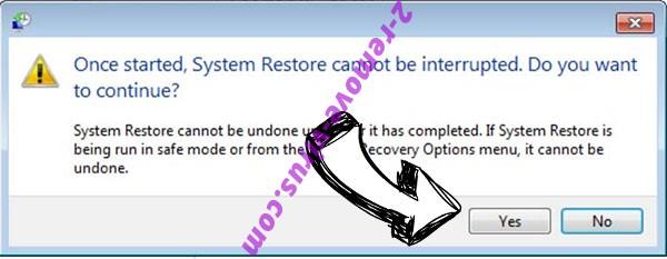 SatanCryptor ransomware removal - restore message