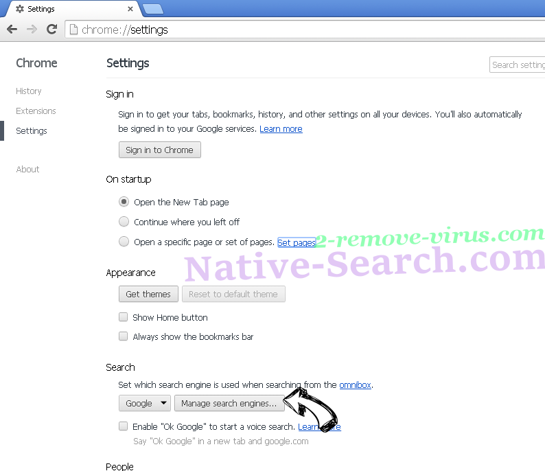 Nistartedwo.biz virus Chrome extensions disable