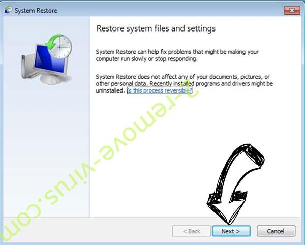 Get rid of Raped ransomware - restore init