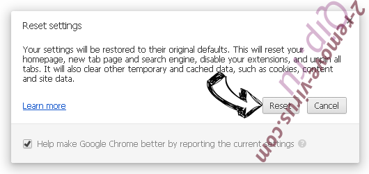 Mandatadeo.com Chrome reset