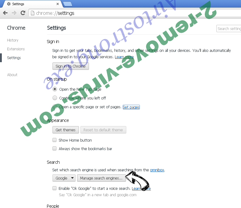 123vidz Virus Chrome extensions disable
