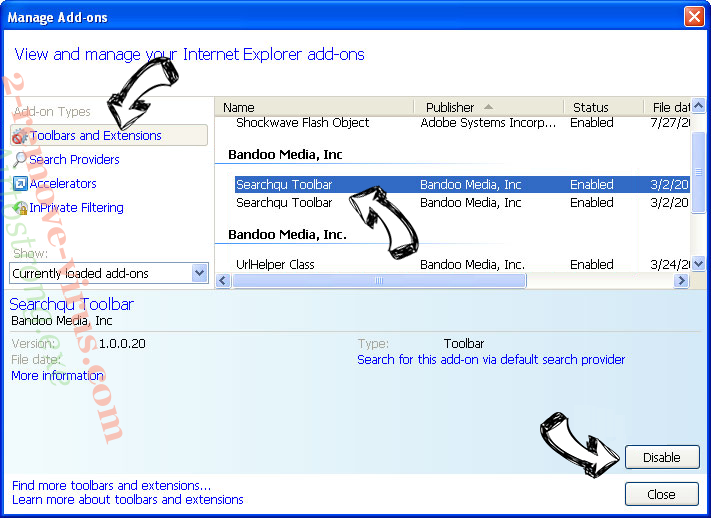 Search4Moviex Virus IE toolbars and extensions