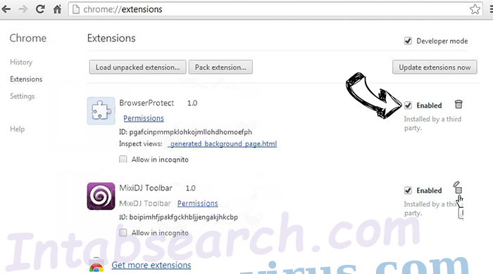 You Have Won A Google Gift Scam Chrome extensions disable