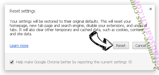 You Have Won A Google Gift Scam Chrome reset