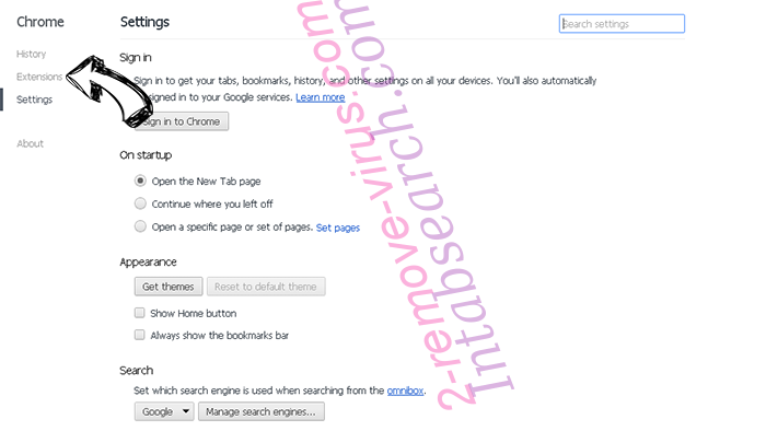 You Have Won A Google Gift Scam Chrome settings