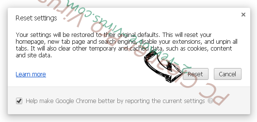 Funcy Web browser hijacker Chrome reset