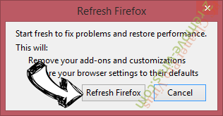 Funcy Web browser hijacker Firefox reset confirm
