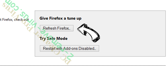 Funcy Web browser hijacker Firefox reset