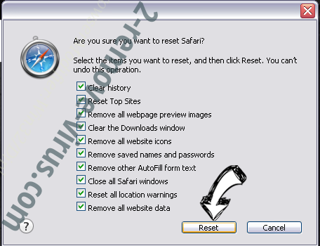 One Click Booster Safari reset