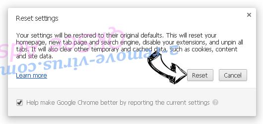 StartPageing123 Virus Chrome reset