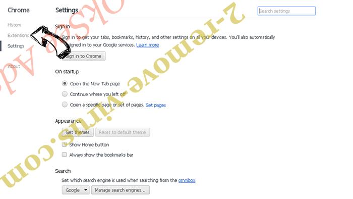 StartPageing123 Virus Chrome settings