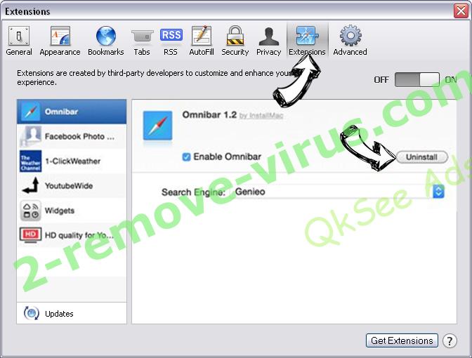 StartPageing123 Virus Safari extensions