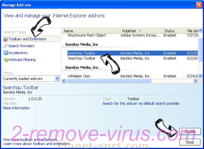 My Free Forms virus IE toolbars and extensions