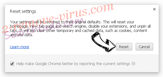 Internet-start.net virus Chrome reset