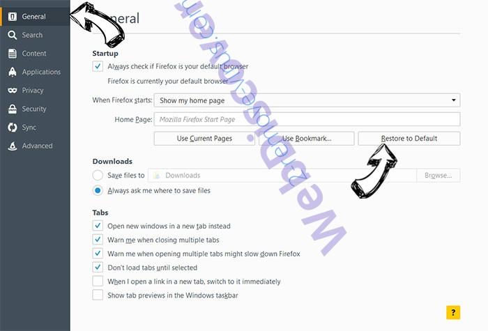 AdsRemoved - AdBlocker Firefox reset confirm