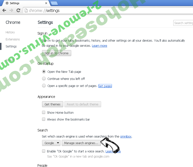Searcher4u.com Chrome extensions disable