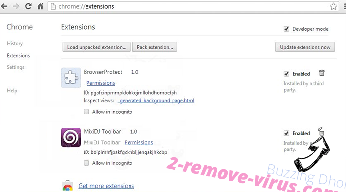 Msgbrand.com Chrome extensions remove