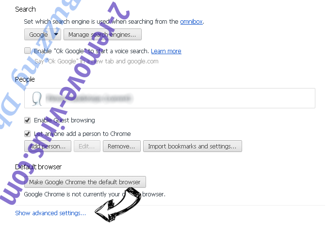 InstaQuick adware Chrome settings more