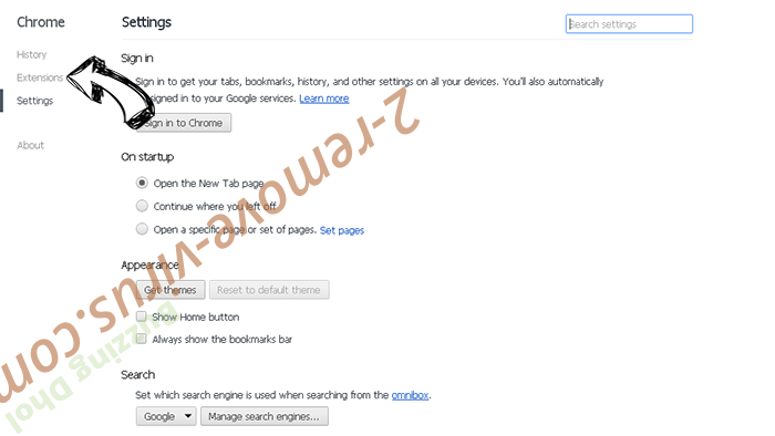 InstaQuick adware Chrome settings