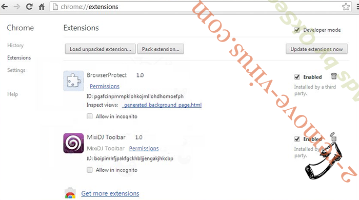CrypSearch Extension Chrome extensions remove