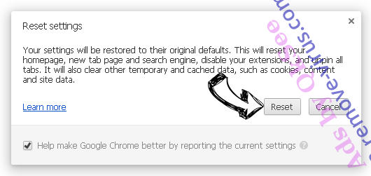 SearchStreams Chrome reset