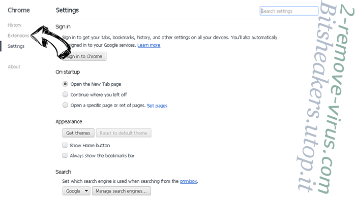 Instabio.cc Chrome settings