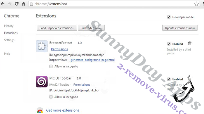 Tag Search Adware Chrome extensions remove