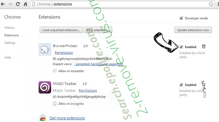Eouldeco.online ads Chrome extensions disable