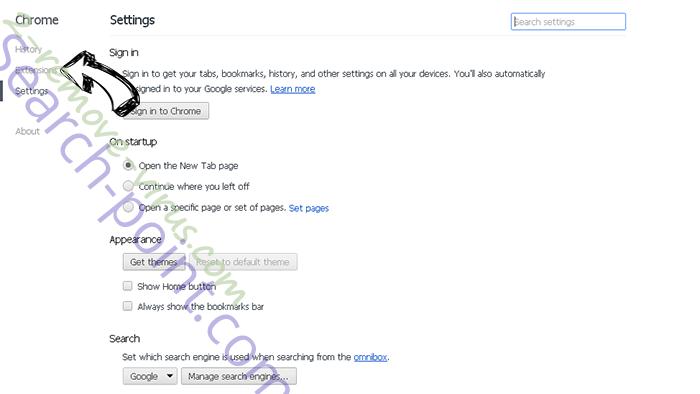 Search.Autocompletepro.com Chrome settings