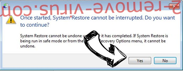 .Karla404 Files Ransomware removal - restore message