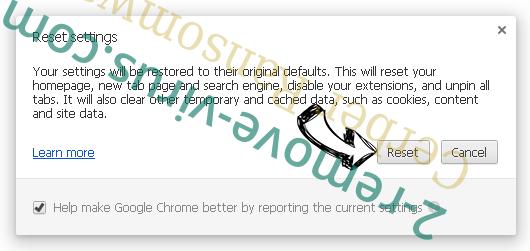 Cerber Ransomware Chrome reset