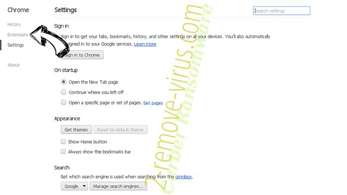 Cerber Ransomware Chrome settings