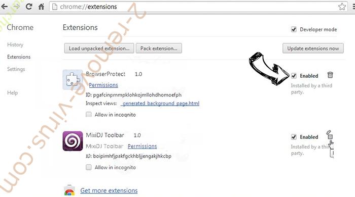 Mycoolnewz.com Ads Chrome extensions disable