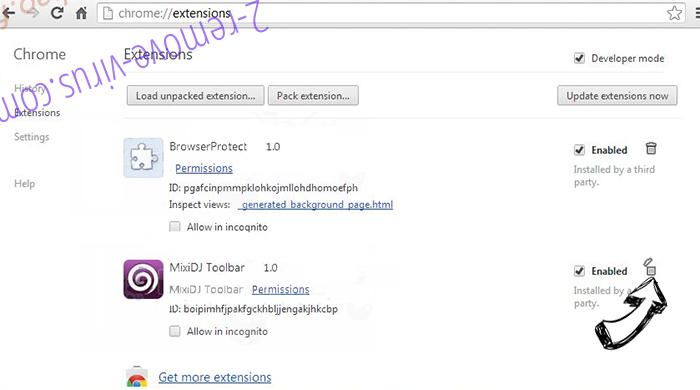 Mycoolnewz.com Ads Chrome extensions remove