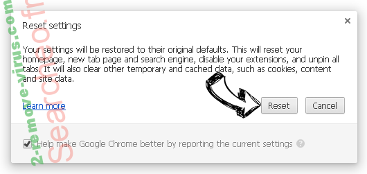Essingto.online pop-up ads Chrome reset