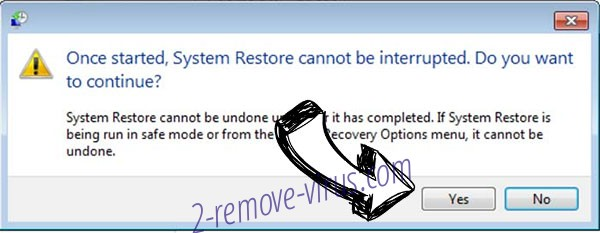 Greed ransomware removal - restore message