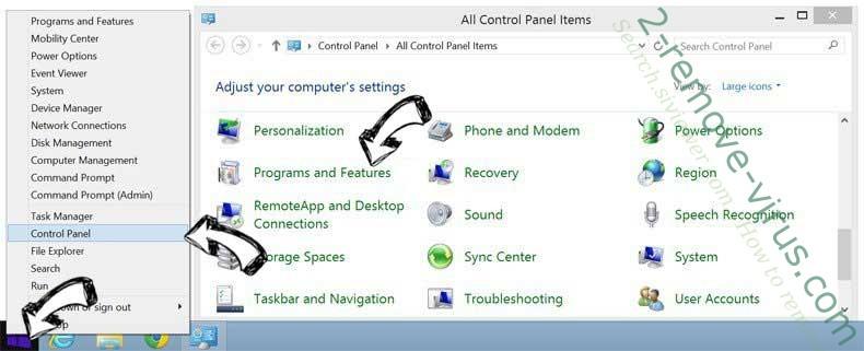 Delete Rockstartpush.net from Windows 8