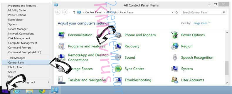 Delete MyFastDial One New Tab from Windows 8