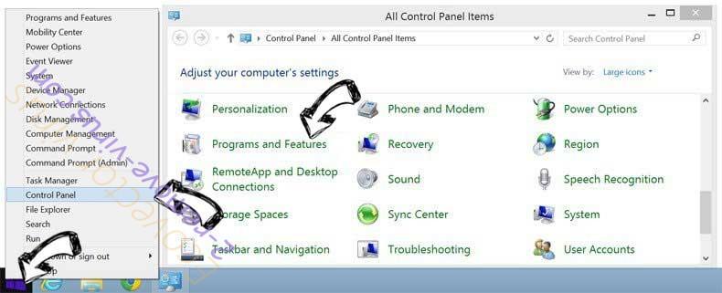 Delete Getcode.biz from Windows 8