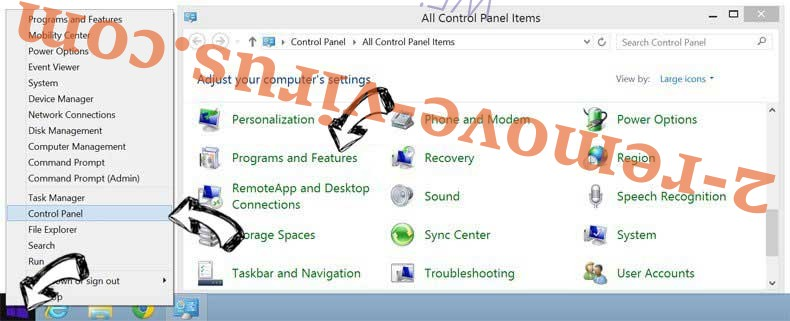 Delete 2solo.biz from Windows 8