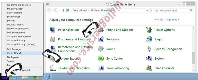 Delete Search.hyourfreepdfconverternowpro.com from Windows 8