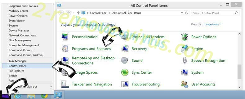 Delete Ponugraduatio.biz from Windows 8