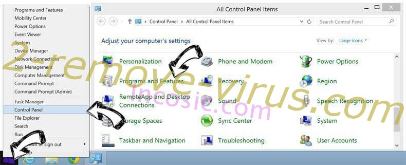 Delete MyStreamsSearch from Windows 8