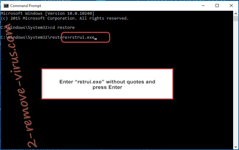 Delete .njkwe files - command prompt restore execute