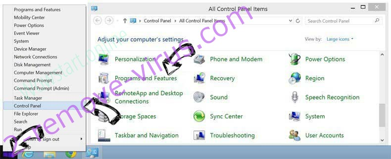 Delete Poshukach.com from Windows 8